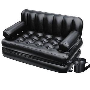 Надувной диван Bestway 75056, 188 х 152 х 64 см, с электрическим насосом, (Оригинал)