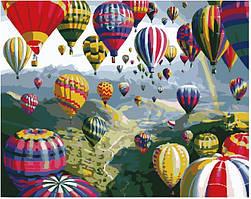 Картина по номерам рисование Разноцветные шары GX6524 40х50см роспись по цифрам набор для рисования
