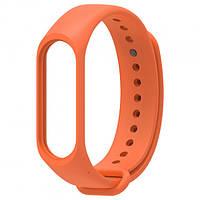 Ремешок для фитнес - трекера Xiaomi Mi Band 3/4 Оранжевый