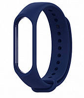 Ремешок для фитнес - трекера Xiaomi Mi Band 3/4 Темно - синий