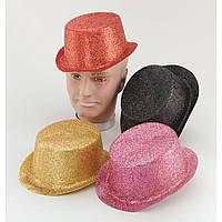 Блестящие пластиковые шапки цилиндры