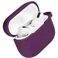 Силиконовый чехол для наушников Airpods PRO/Аналогов (Purple)