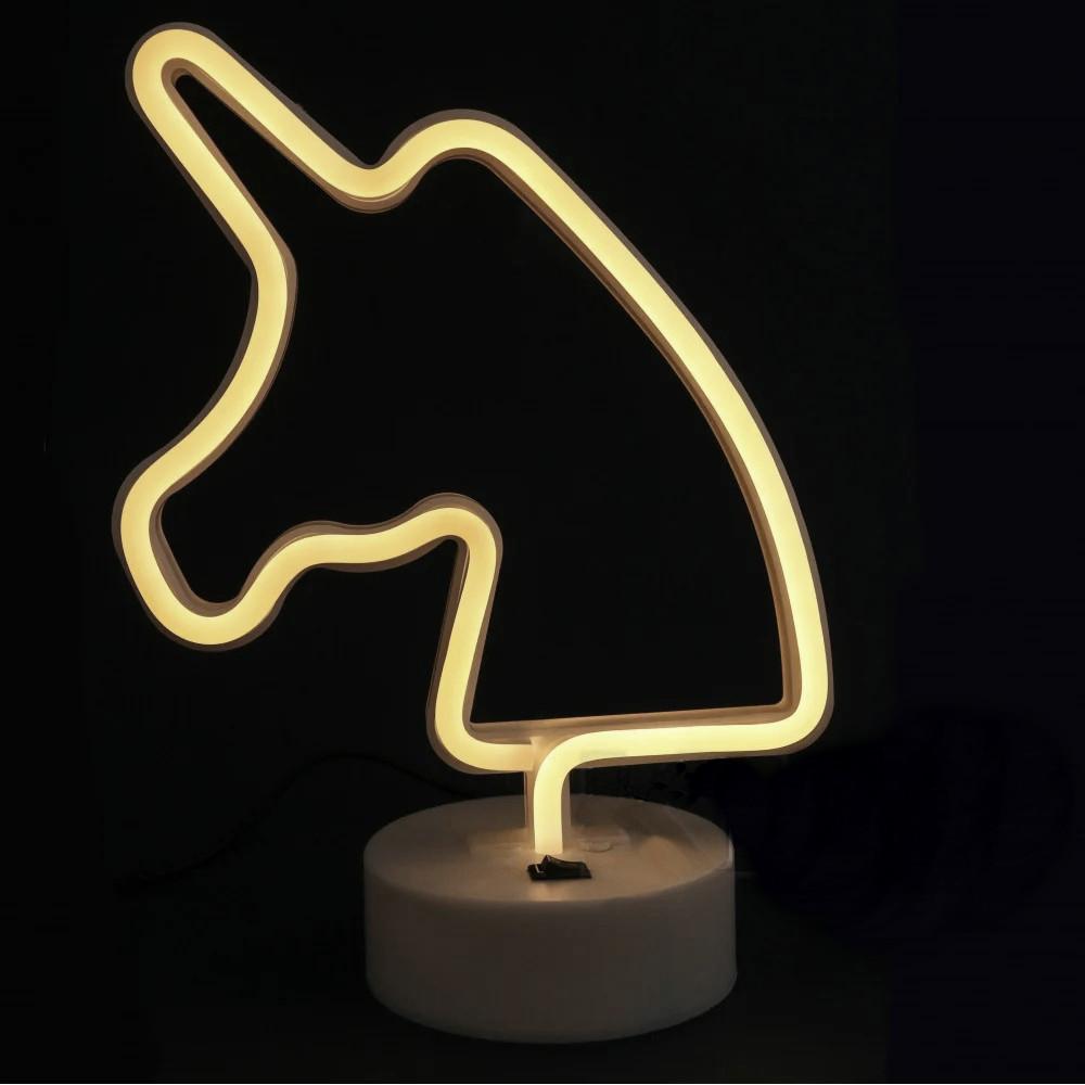 """Ночной светильник Neon """"Unicorn White"""""""