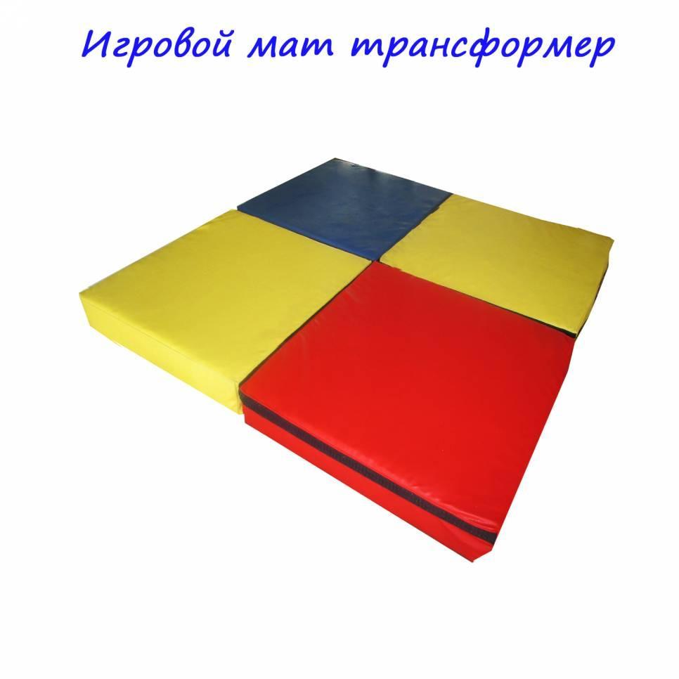 Мат игровой Трансформер 100-100-10 см TIA-SPORT. ТС134