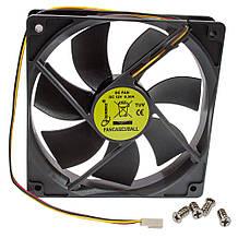 Вентилятор Gembird FANCASE3 BALL 120х120х25мм 3pin чорний новий