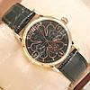 Необычные наручные часы Patek Philippe Skeletone Geneve Gold/Black 1912