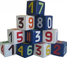Набір кубиків Цифри різнокольорові TIA-SPORT. ТС435