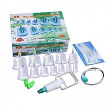 Вакуумные массажные банки Kala 12 шт  с насосом и магнитами