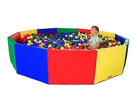Сухой бассейн Многоугольник 255х50 см TIA-SPORT. ТС559
