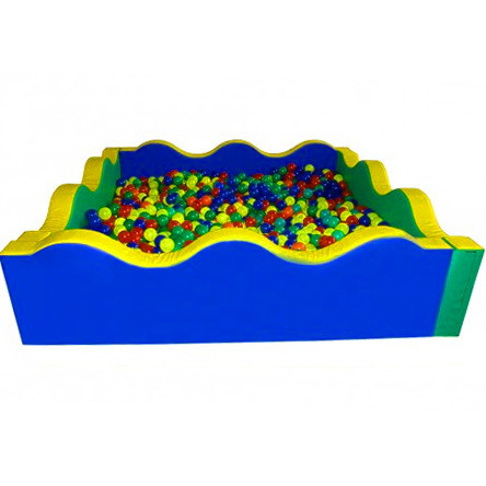 Сухой бассейн квадратный Волна 200х60 см TIA-SPORT. ТС560