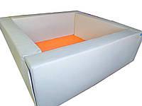 Сухой бассейн квадратный белый 150х40 см TIA-SPORT. ТС606