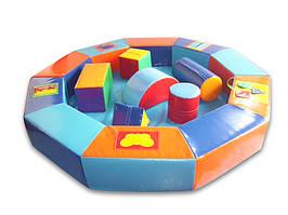 Сухой бассейн-манеж цветной с конструктором 210х30 см TIA-SPORT. ТС646