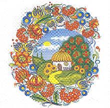 Декупажний серветка Українське село 5359