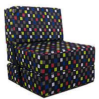 Безкаркасне крісло розкладне ліжко Принт поролон TIA-SPORT. ТС765