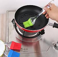 Кисточка силиконовая Kamille 22*5см (цвета mix)