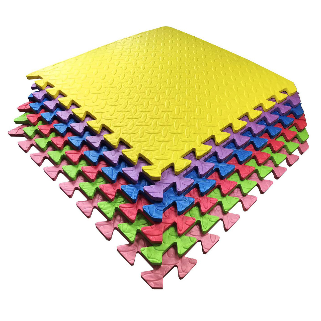Набор мягкие полы, коврик пазл 51х51х1см - 6 цветов TIA-SPORT. ТС781