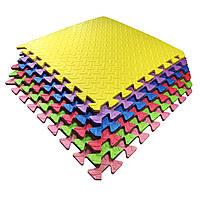 Набор мягкие полы, коврик пазл 51х51х1см - 6 цветов TIA-SPORT. ТС781, фото 1