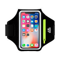Чехол на руку для смартфона OUDU с карманом на молнии черный