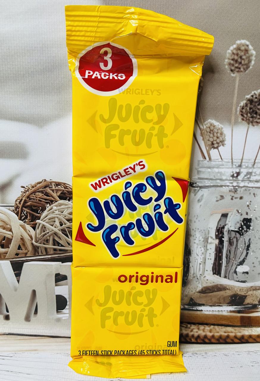 Жувальна гумка wrigley's juicy fruit, 3штуки набір