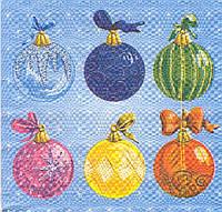 Салфетка декупажная Новогодние шарики 5358