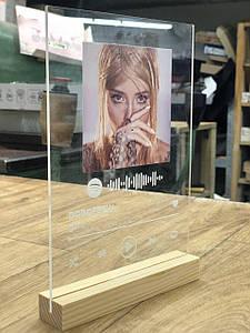 Подставка деревянная под трек-пластинку А5