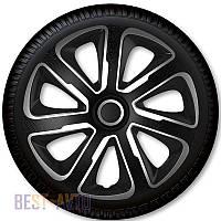 Колпаки для колес Livorno Carbon Silver Black R14 (Комплект 4 шт.) 4 Racing