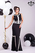 Контрастное платье | Джованна lzn, фото 2
