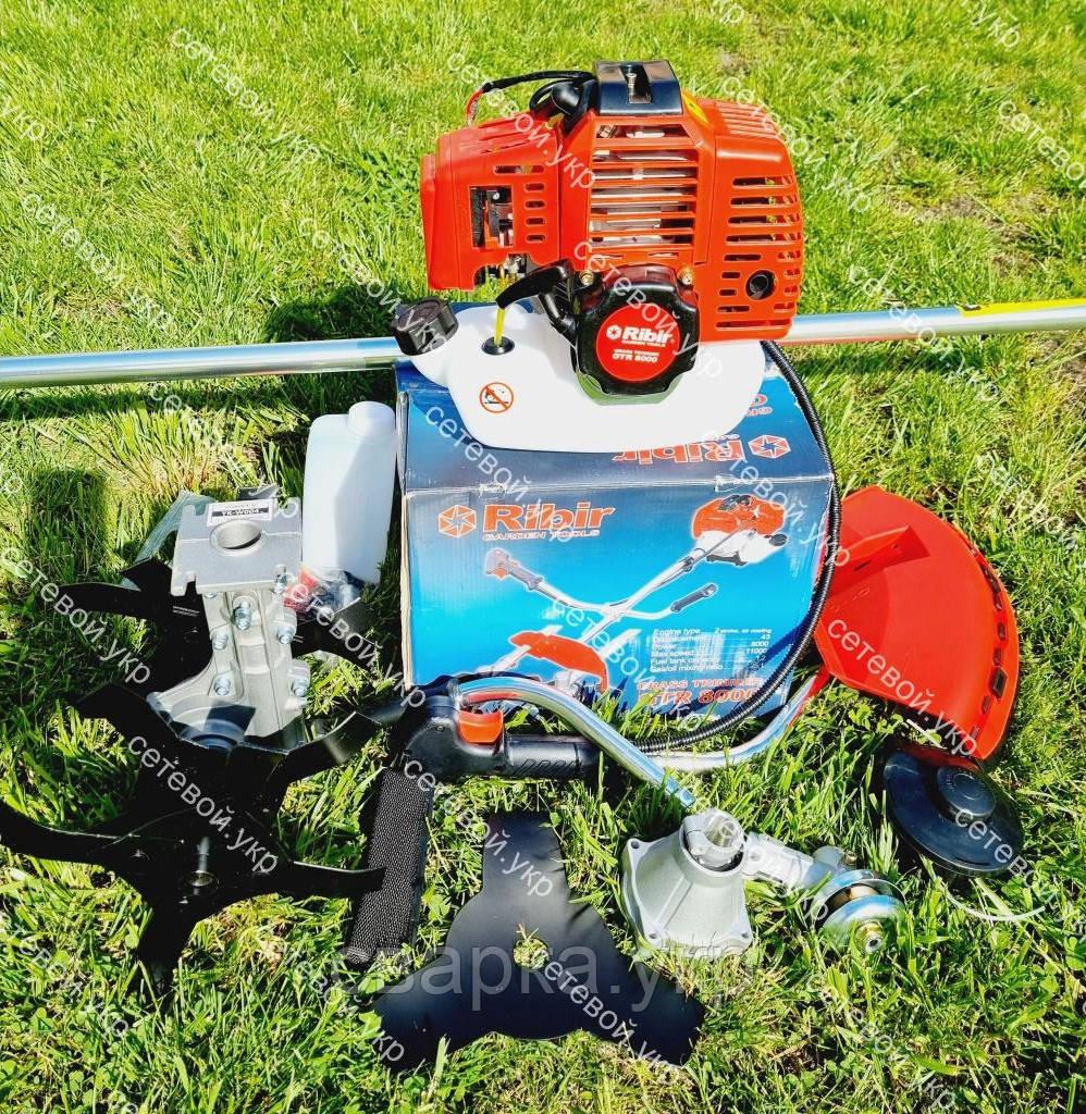 Мотокоса бензинова Ribir GTR-8000 в комплекті з культиватором