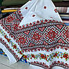 Украинский рушник с маками и красно-черным узором  42х150 см