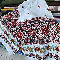 Украинский рушник с маками и красно-черным узором  42х150 см, фото 1