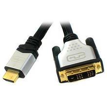 Кабель мультимедийный HDMI to DVI 18+1pin M, 5.0m Viewcon (VD 103-5m.)
