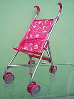 Коляска для кукол, игрушечная коляска трость,9302, розовое мороженное