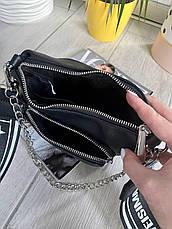 Кросс-боди Kiki с широким ремешком черная КИКИ1, фото 3