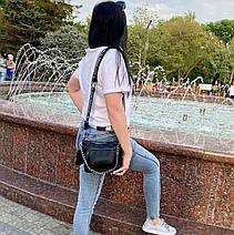 Кросс-боди Kiki с широким ремешком черная КИКИ1, фото 2