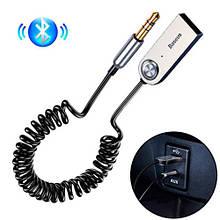 Bluetooth 5.0 аудио приемник AUX адаптер 3.5мм трансмиттер Baseus BA01