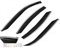 Дефлектори вікон Mitsubishi Pajero Sport 1998-2007/Challenger 1999-2008 з хромованим молдингом Cobra Tuning, фото 1