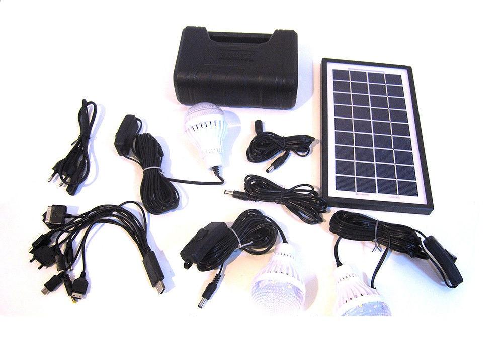 Аккумулятор фонарь от солнечной батареи GD8017Plus