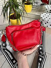 Кросс-боди Kiki с широким ремешком красная КИКИ4, фото 3