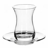 Набор стаканов для чая (армуду) с блюдцем 160 мл (6 шт.) Аида 96308