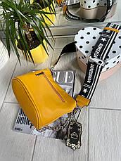 Кросс-боди Kiki с широким ремешком желтая КИКИ5, фото 3