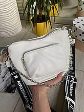 Кросс-боди Kiki с широким ремешком белая КИКИ6, фото 2