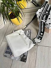 Крос-боді Kiki з широким ремінцем біла КИКИ6, фото 3