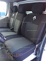 Чехлы на сидения Renault Trafic (1+2) с 2001 г EMC-Elegant