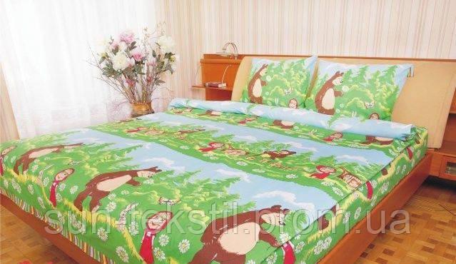 Постельный комплект Маша и Медведь - Sun-Tekstil Студия тканей в Киеве 6c5c91db15aed