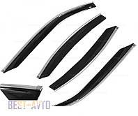 Дефлектори вікон Hyundai Solaris Sd 2010/Verna Sd 2010 з хромованим молдингом Cobra Tuning Profi, фото 1
