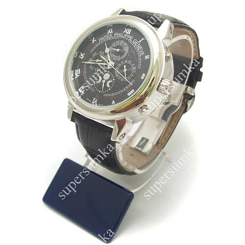 Элегантные наручные часы Patek Philippe Sky Moon Black/Silver/Black 1918