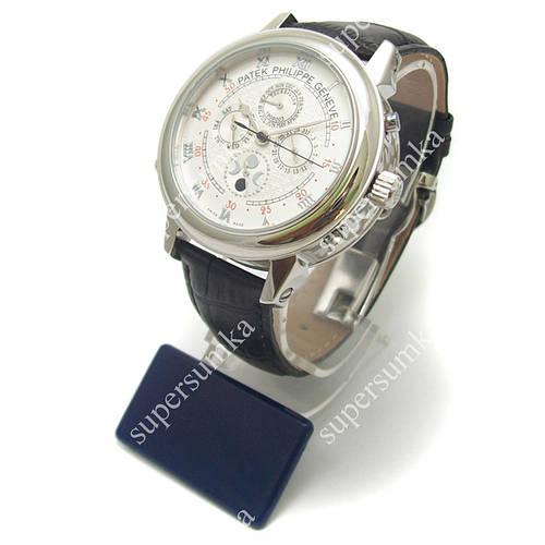 Яркие наручные часы Patek Philippe Sky Moon Black/Silver/White 1919