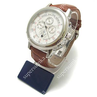 Практичные наручные часы Patek Philippe Sky Moon Brown/Silver/White 1920