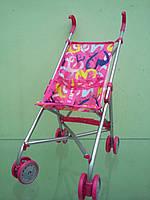 9302 Коляска для кукол, игрушечная коляска трость, розовая абстракция