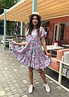 Платье летнее NOBILITAS 42 - 52 сиреневое штапель (арт. 21020), фото 3